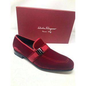 New Salvatore Ferragamo Red Shoes Danny